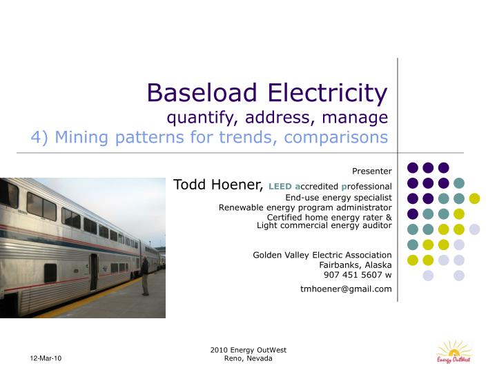 baseload electricity quantify address manage 4 mining patterns for trends comparisons