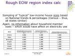 rough eow region index calc