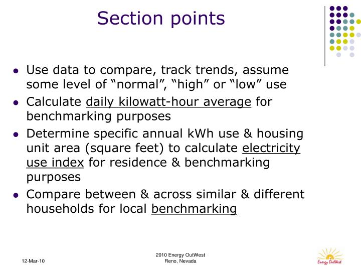 Section points