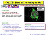 calice from mc to reality to mc
