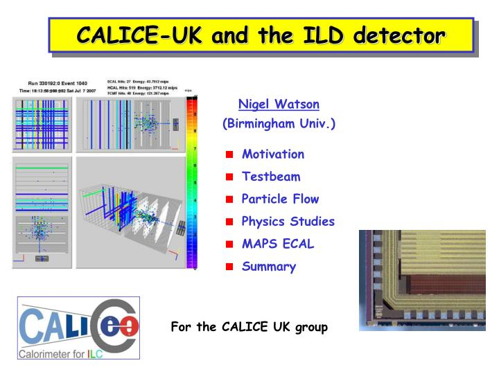 Calice uk and the ild detector