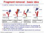 fragment removal basic idea