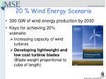 20 wind energy scenario