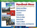 handbook menu