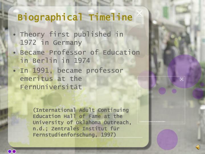 Biographical Timeline