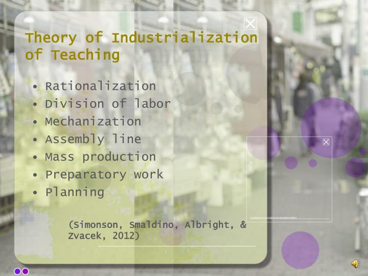 Theory of Industrialization of Teaching
