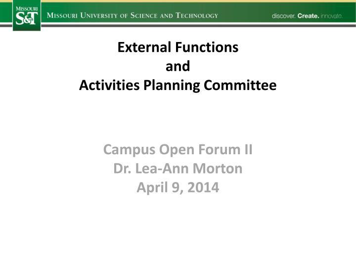 External Functions