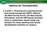 options for consideration3