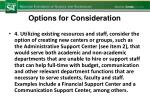 options for consideration4