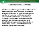 resources planning committee1