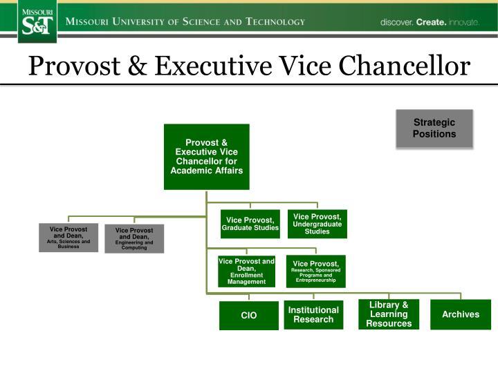Provost & Executive Vice Chancellor