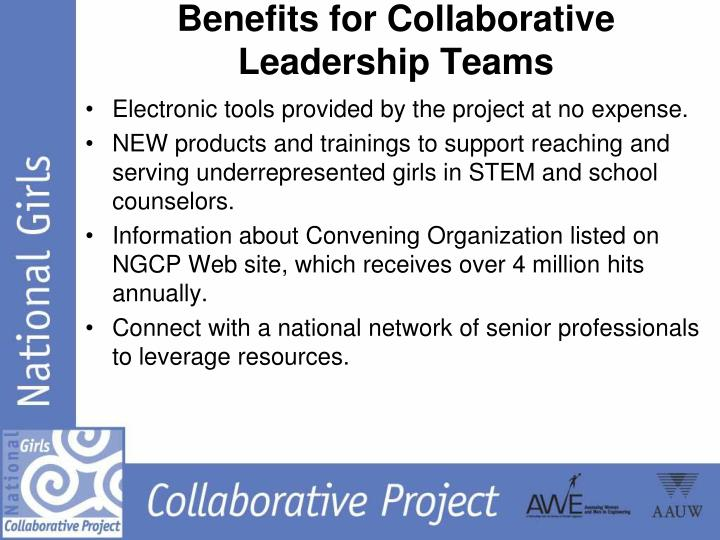 Benefits for Collaborative Leadership Teams