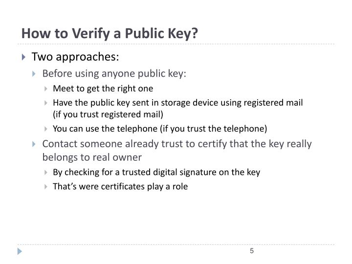 How to Verify a Public Key?