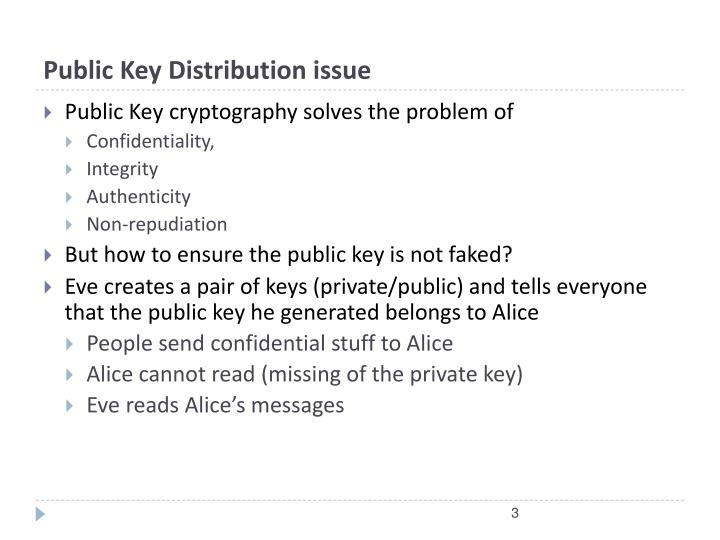 Public Key Distribution issue