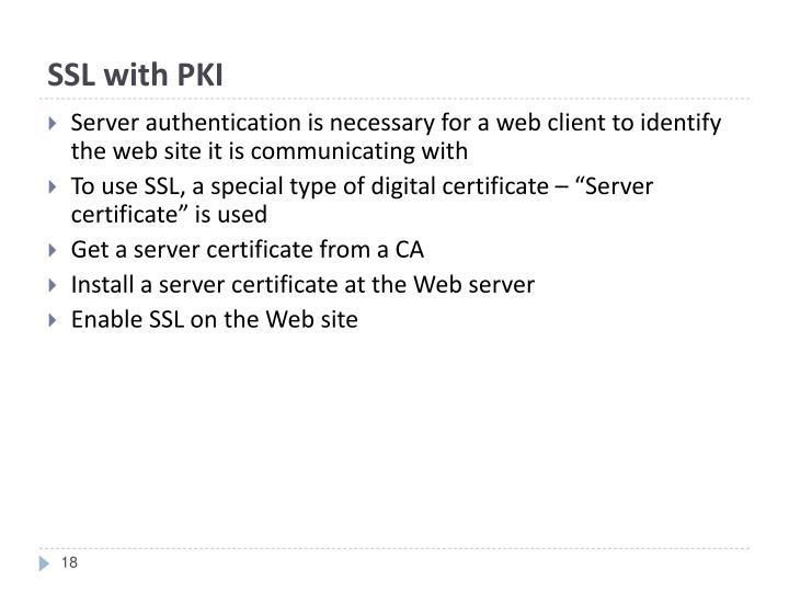 SSL with PKI