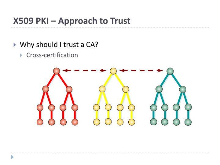 X509 PKI – Approach to Trust