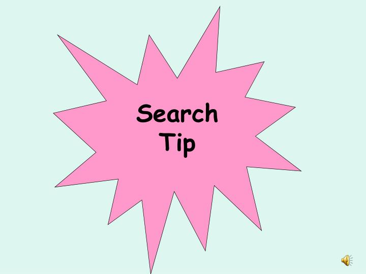 Search Tip