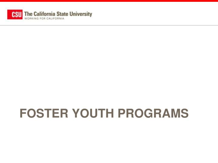 Foster youth programs