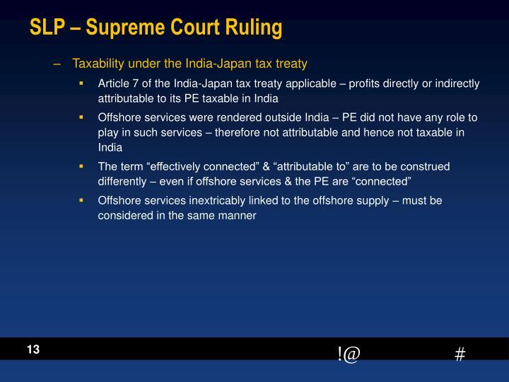 SLP – Supreme Court Ruling