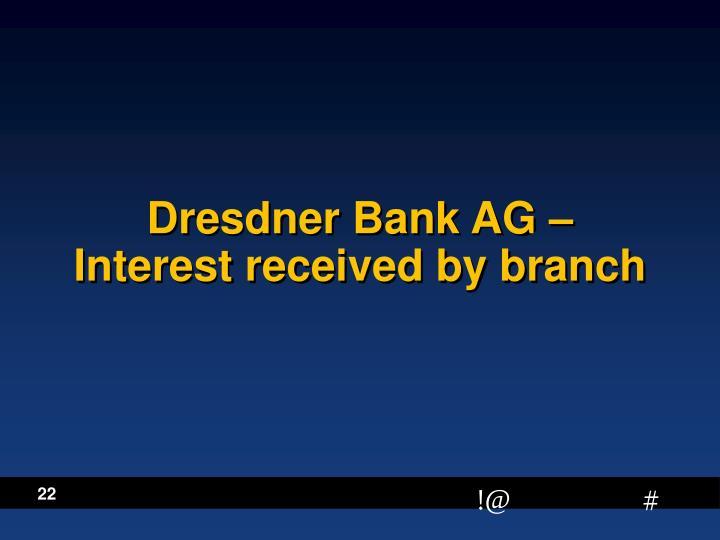 Dresdner Bank AG –