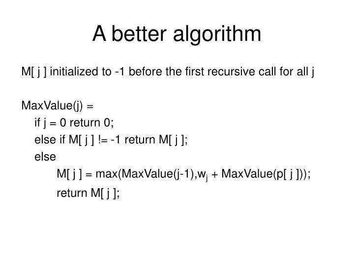 A better algorithm