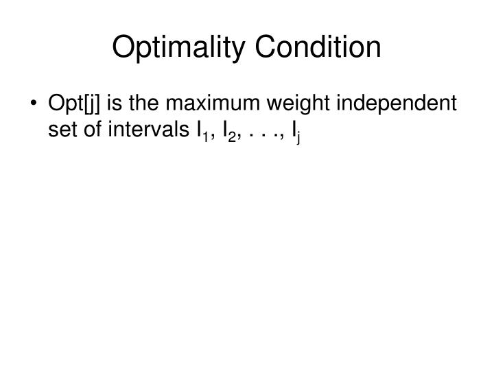 Optimality Condition