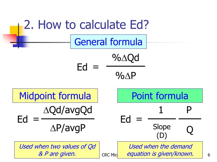 2. How to calculate Ed?