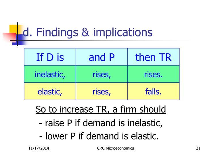d. Findings & implications