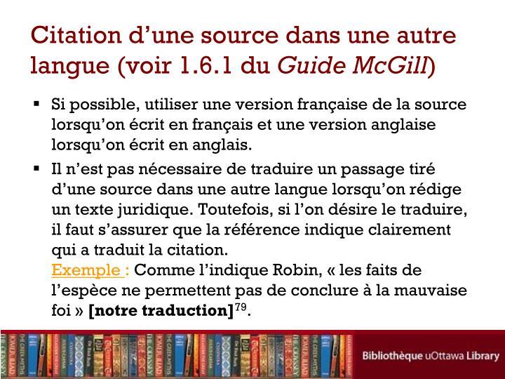 Citation d'une source dans une autre langue (voir 1.6.1 du
