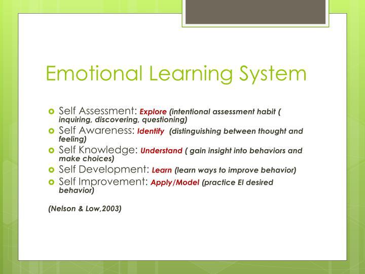 Emotional Learning System