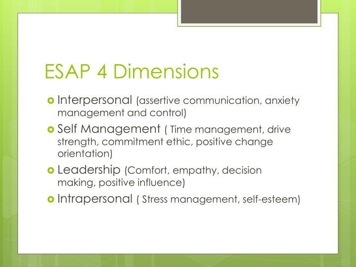 ESAP 4 Dimensions