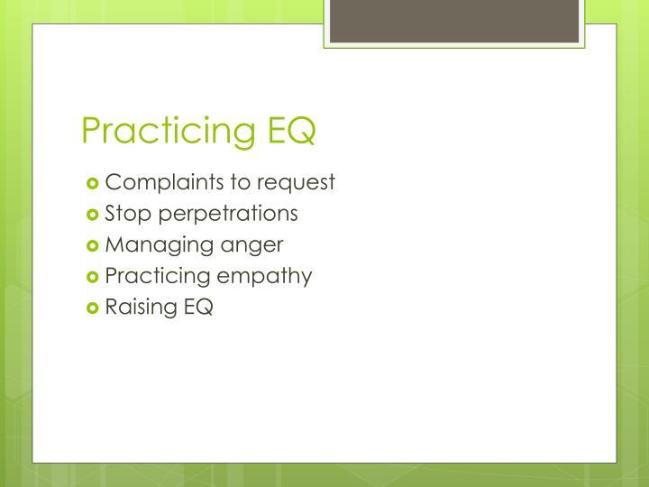 Practicing EQ