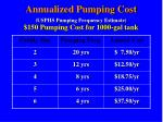 annualized pumping cost usphs pumping frequency estimate 150 pumping cost for 1000 gal tank