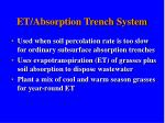 et absorption trench system