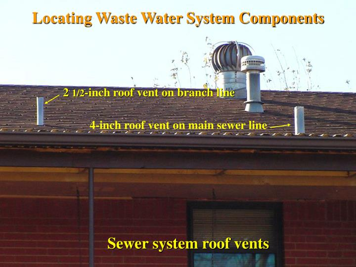 Locating Waste Water System Components