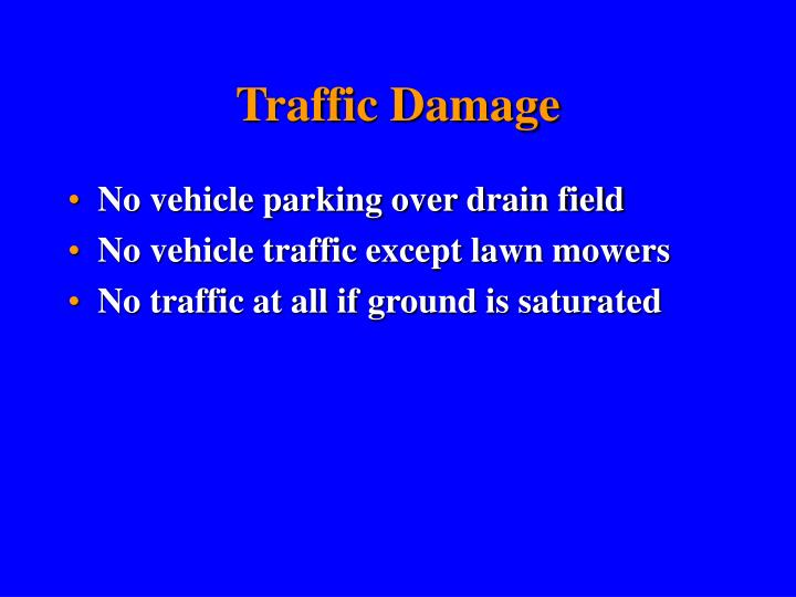 Traffic Damage