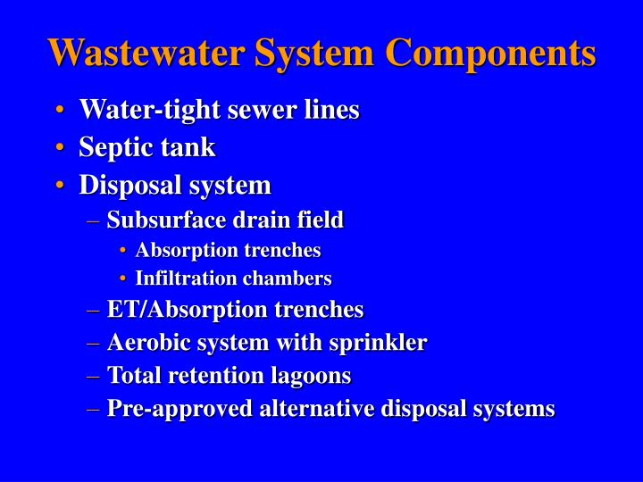 Wastewater System Components