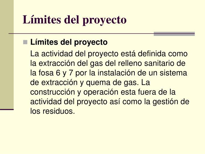Límites del proyecto