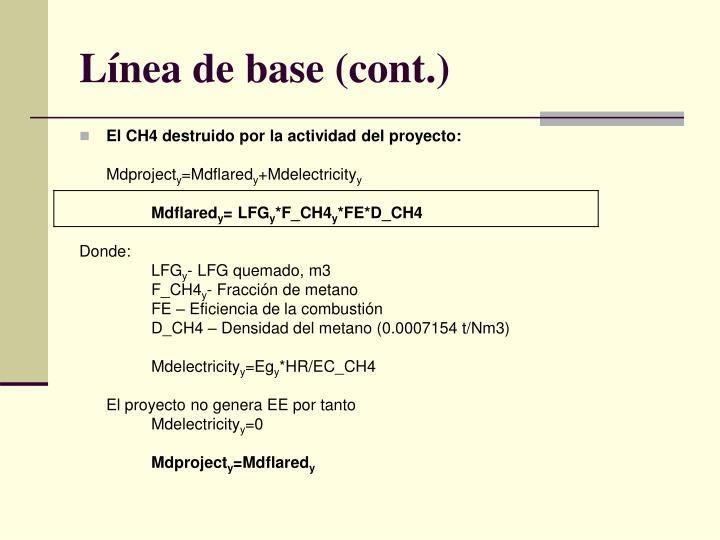 Línea de base (cont.)