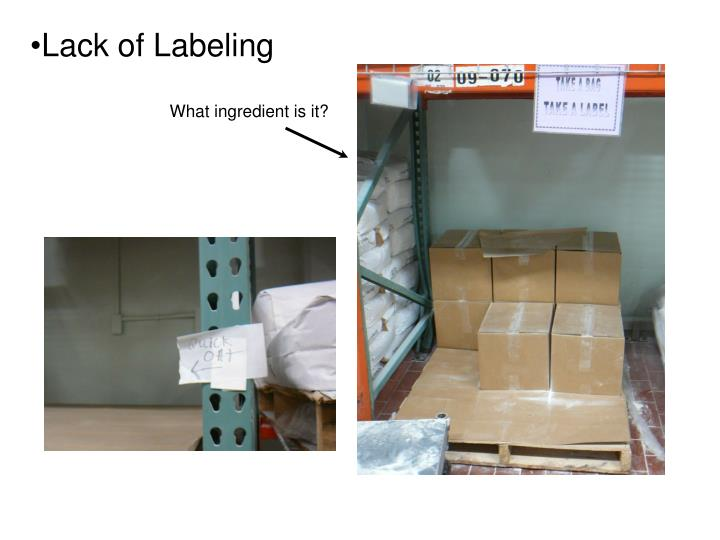Lack of Labeling