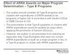 effect of arra awards on major program determination type b programs