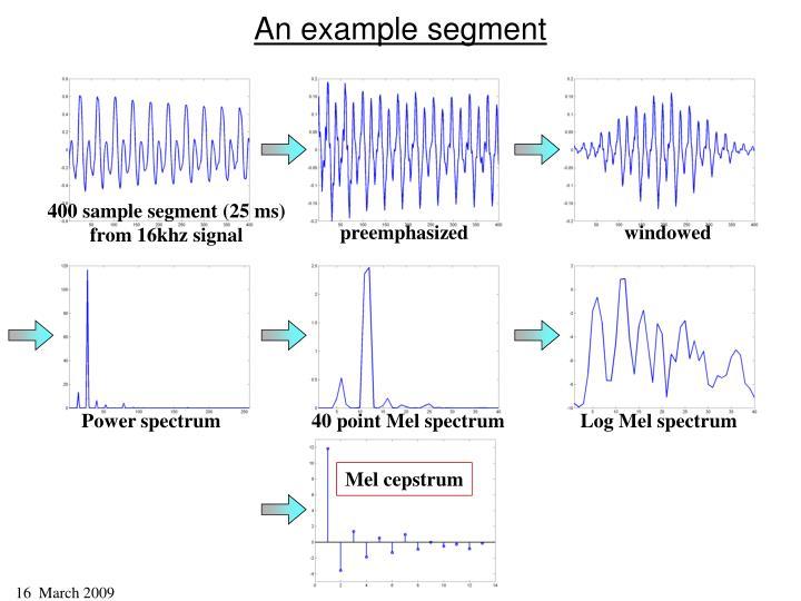 An example segment