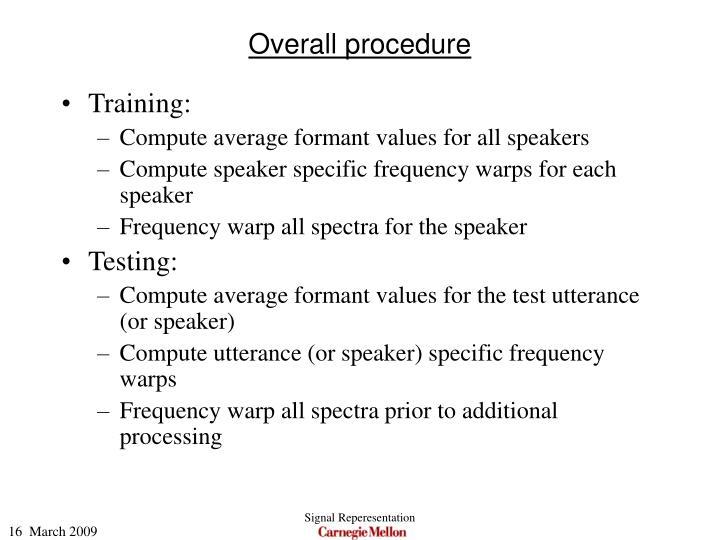 Overall procedure