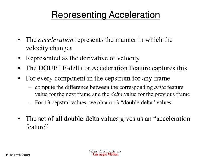 Representing Acceleration