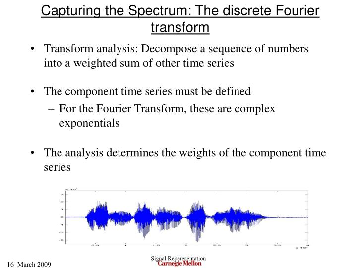 Capturing the Spectrum: The discrete Fourier transform