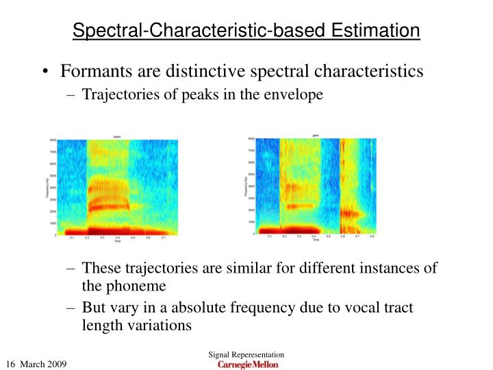 Spectral-Characteristic-based Estimation