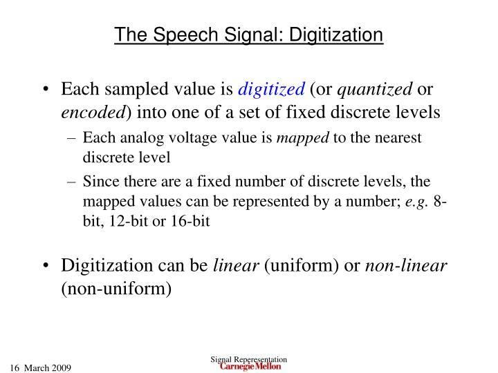 The Speech Signal: Digitization