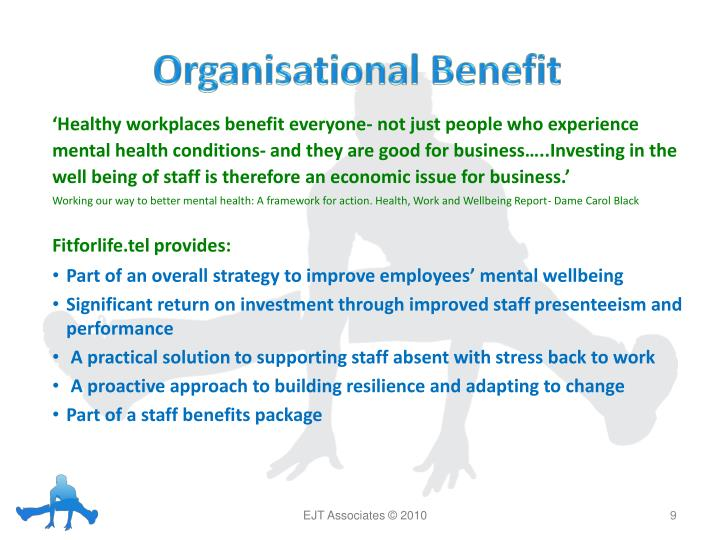 Organisational Benefit