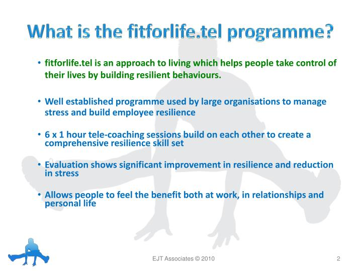 What is the fitforlife tel programme