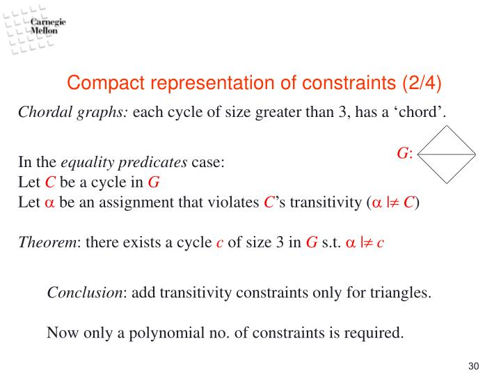 Compact representation of constraints (2/4)
